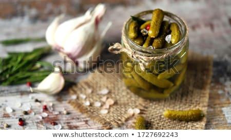 Stockfoto: Gemarineerd · augurken · komkommers · bloemkool · geserveerd · schotel