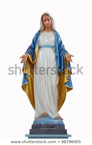 Witte maagd standbeeld naar uit tropisch eiland Stockfoto © jkraft5