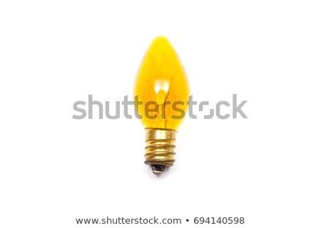 Iluminação bulbo branco um vermelho preto Foto stock © Quka