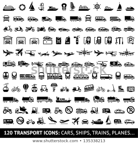 Set of transport icons - Monorail and Tram Stock photo © Ecelop