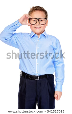 smiling smart boy in studio Stock photo © meinzahn