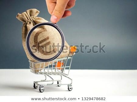 ユーロ · フル · お金 · ショッピング · グループ · 警察 - ストックフォト © lillo