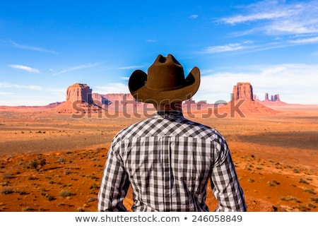 boots and hat in Monument Valley Stock photo © vwalakte