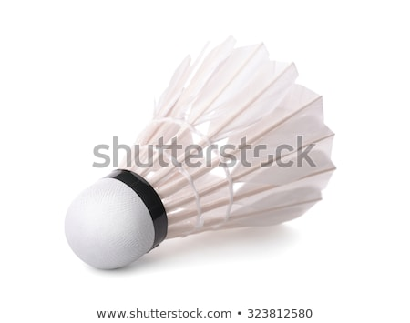 badminton · isolé · blanche · balle · engins · jouer - photo stock © snyfer