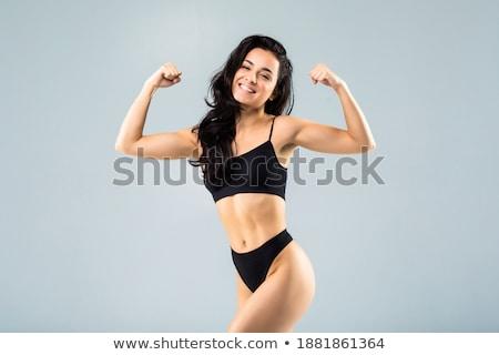 Fitness vrouw bikini jonge vrouw meisje sport Stockfoto © photobac