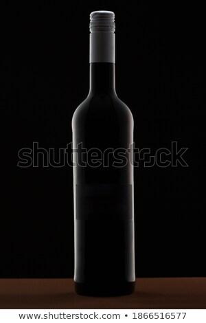 üveg piros győzelem üveg este étterem Stock fotó © Donvanstaden