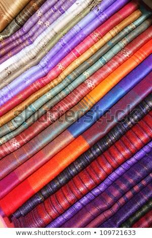 Linen Stripes at the Otavalo Craft Market Stock photo © rhamm