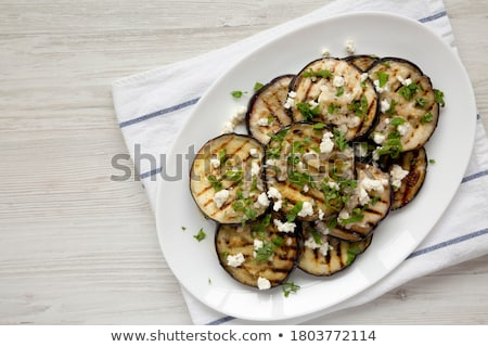 grilled aubergine with cheese Stock photo © M-studio