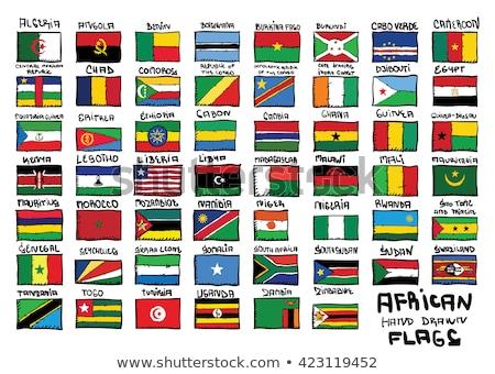 Bandeira Moçambique mão cor país estilo Foto stock © claudiodivizia