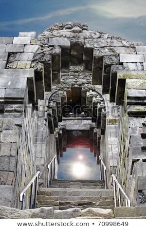 Stock fotó: Középkori · falak · templom · Indonézia · fal · terv