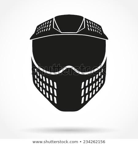 Paintball máscara isolado branco fundo pistola Foto stock © konturvid