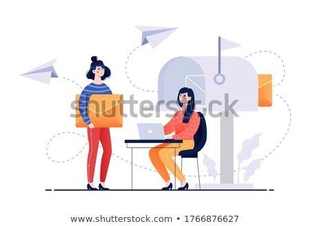 envelopes on background showing electronic mailbox stock photo © stuartmiles