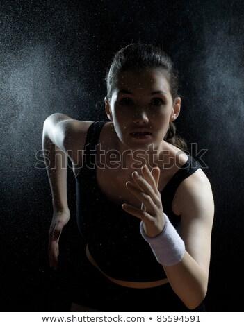 serious athletic girl Stock photo © evgenyatamanenko