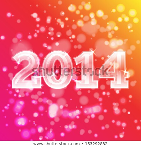 2014 magia particelle felice nuovo anno Foto d'archivio © stevanovicigor