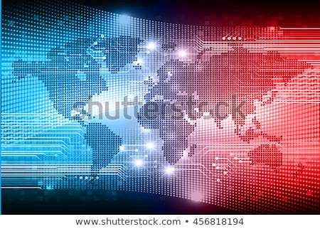 Stock photo: world map and blue eye