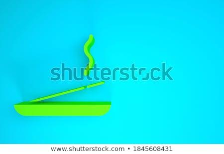 Incienso 3d uno palo humo agua Foto stock © Elenarts