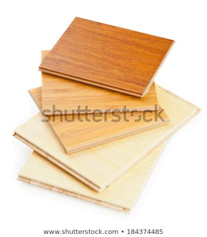 Bamboo laminate flooring samples Stock photo © ShawnHempel