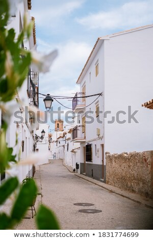 古い 村 教会 典型的な 地中海 春 ストックフォト © lunamarina