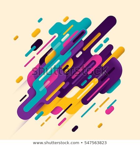 Technologii elegancki twórczej niebieski kolorowy fali Zdjęcia stock © bharat