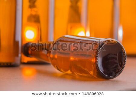 Bierfles bruin kant meer flessen Stockfoto © ottoduplessis