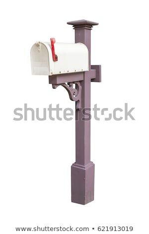 Empty Old Metal Mailbox isolated on white  Stock photo © tab62