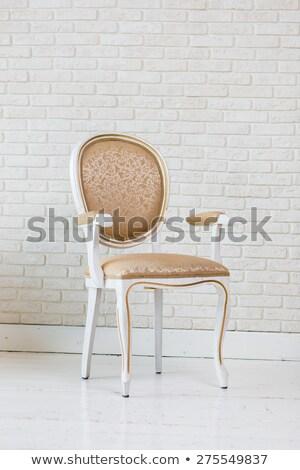golden white leather furniture texture Stock photo © romvo