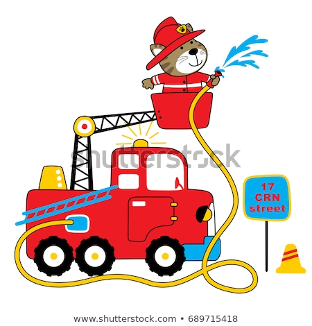 board fire truck Stock photo © romvo