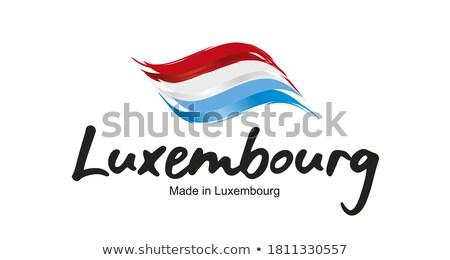 Luxemburg piros bélyeg felirat pecsét izolált Stock fotó © tashatuvango
