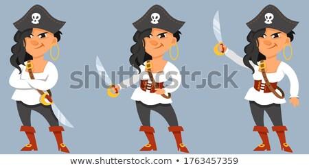 Pirate woman Stock photo © clairev