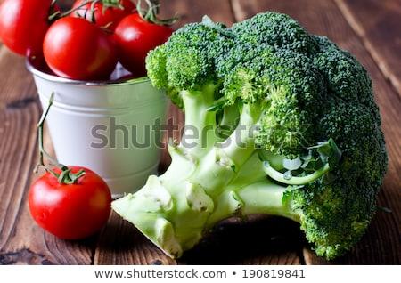 gotowany · brokuły · biały · tablicy · kolor · roślin - zdjęcia stock © m-studio