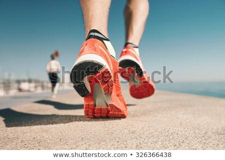 spor · ayakkabı · spor · ahşap · zemin · kadın - stok fotoğraf © pmphoto