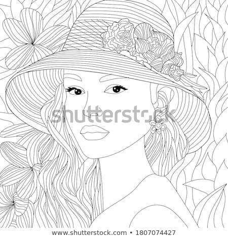 Divat portré nő dzsungel hölgy virág Stock fotó © majdansky