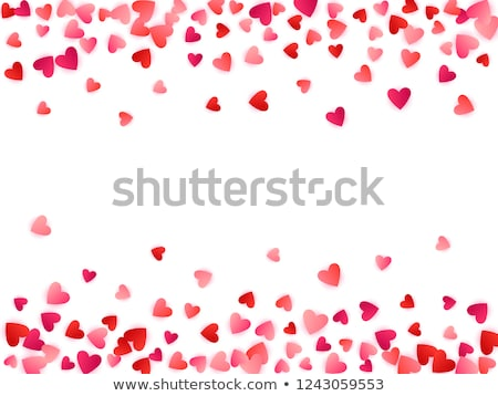 Love ruby heart, wedding valentines day card, vector illustration Stock photo © carodi