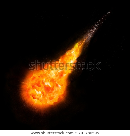 Abstract space fantasy - an asteroid collision with a planet Stock photo © alinbrotea