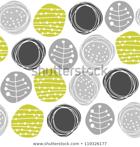 Stock photo: Monochrome pattern with light and dark gray circled texture on g