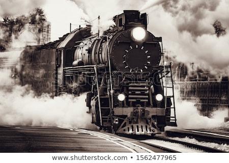 古い 列車 写真 細部 抽象的な 庭園 ストックフォト © Dermot68