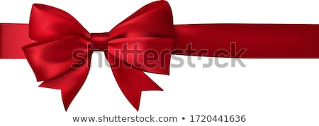 Single red bow isolated on white Stock photo © lucielang