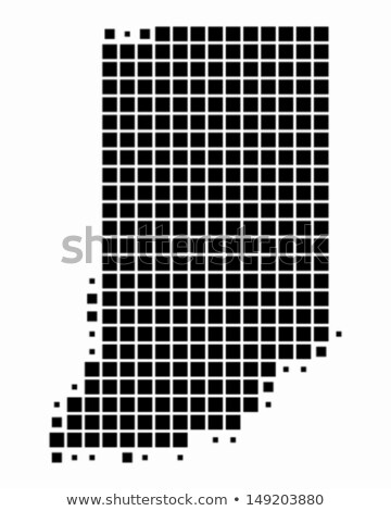 Kaart USA Indiana patroon vector Stockfoto © Istanbul2009