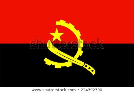 Banderą Angola wykonany ręcznie placu retro Zdjęcia stock © k49red