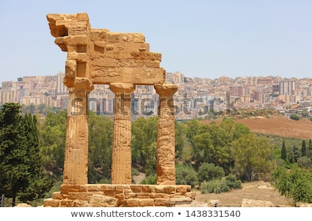 Temple of Dioscuri - Castor and Pollux - at Valley of Temples, Agrigento. Stock photo © ankarb