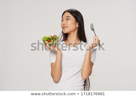 女性 サラダ キュウリ ストックフォト © deandrobot