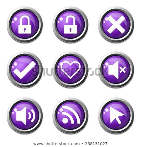 SEO Internet Sign Violet Vector Button Icon Design Set 4 Stock photo © rizwanali3d