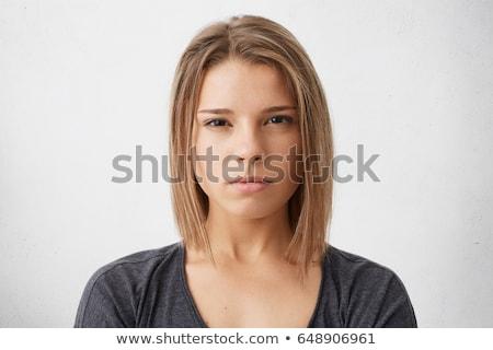 Komoly nő aranyos kaukázusi vonzó fiatal felnőtt Stock fotó © wavebreak_media