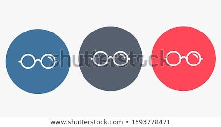 Látványosság kék vektor ikon terv szemüveg Stock fotó © rizwanali3d