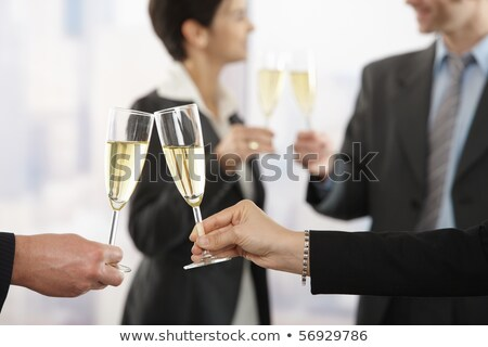 zakenlieden · vieren · champagne · succes · toast · focus - stockfoto © wavebreak_media