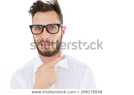 Geeky businessman gesturing to camera Stock photo © wavebreak_media