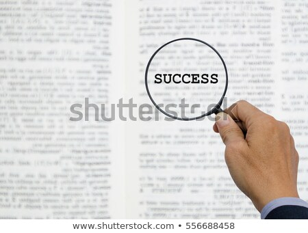 success word and magnifying glass stock photo © fuzzbones0