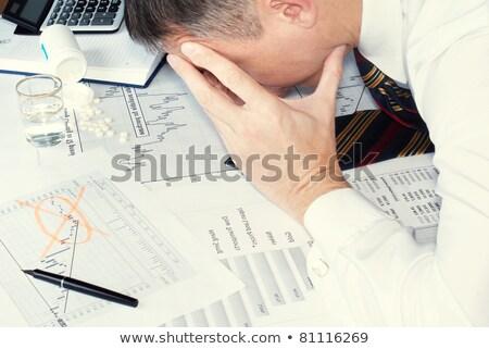 Csőd toll fehér munka ceruza bank Stock fotó © fuzzbones0
