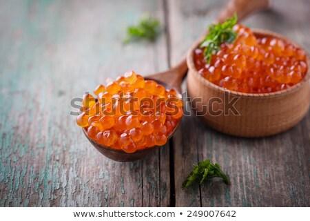 Red Caviar in Wood Bowl Stock photo © zhekos