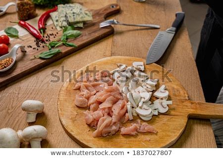 Grzyby przygotowany gotowania tekstury gotowy Zdjęcia stock © jordanrusev